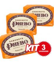 (Kit 3 Unidades) Sabonete Phebo Naturelle 90g