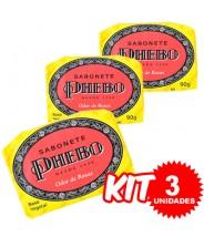 (Kit 3 Unidades) Sabonete Phebo Odor de Rosas 90g