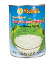 Sweetened Young Coconut Stripped In Syrup 610g T.A.S Brand